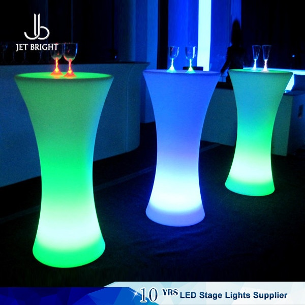 Illuminated led cocktail table for Cocktail tables rental singapore
